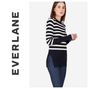 Everlane Breton Ribbed Cotton Striped Sweater